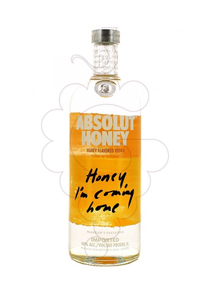Photo Vodka Absolut Honey