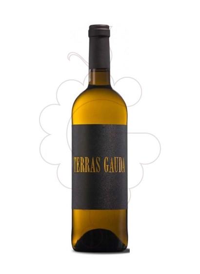 Photo Albariño Terras Gauda Etiquette Noir Vin blanc