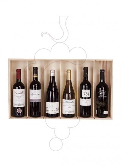 Photo Boîtes de Noël Pack 6 Bouteilles de Vin