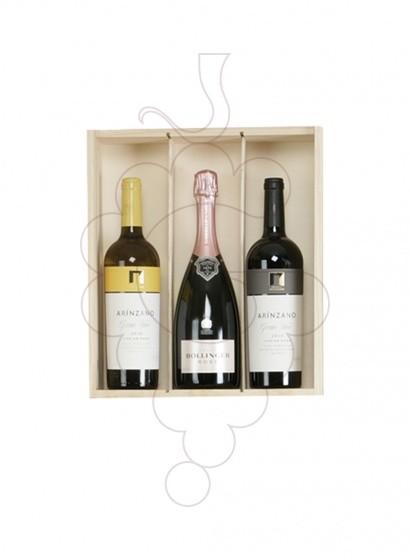 Photo Boîtes de Noël Pack TOP : 2 Bouteilles de Bin + Champagne