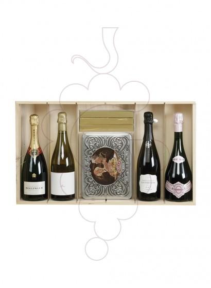Photo Boîtes de Noël TOP PACK: 2 bouteilles de vin + 2 bouteilles de champagne