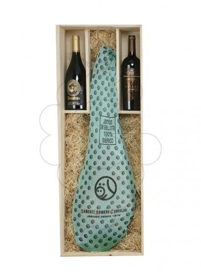 Photo Boîtes de Noël Pack de 2 bouteilles de vin + Jambon ibérique d'aglà S. Romero